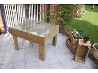 Large dining table - Wooden garden furniture - Decking wood - Bespoke