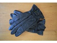Genuine Leather gloves BLACK, made for Boris of London. Size: Medium.