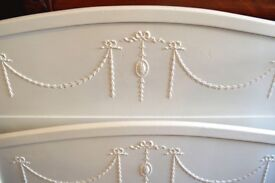STORAGE CLEARANCE - VINTAGE PAINTED SHABBY CHIC DOUBLE BED