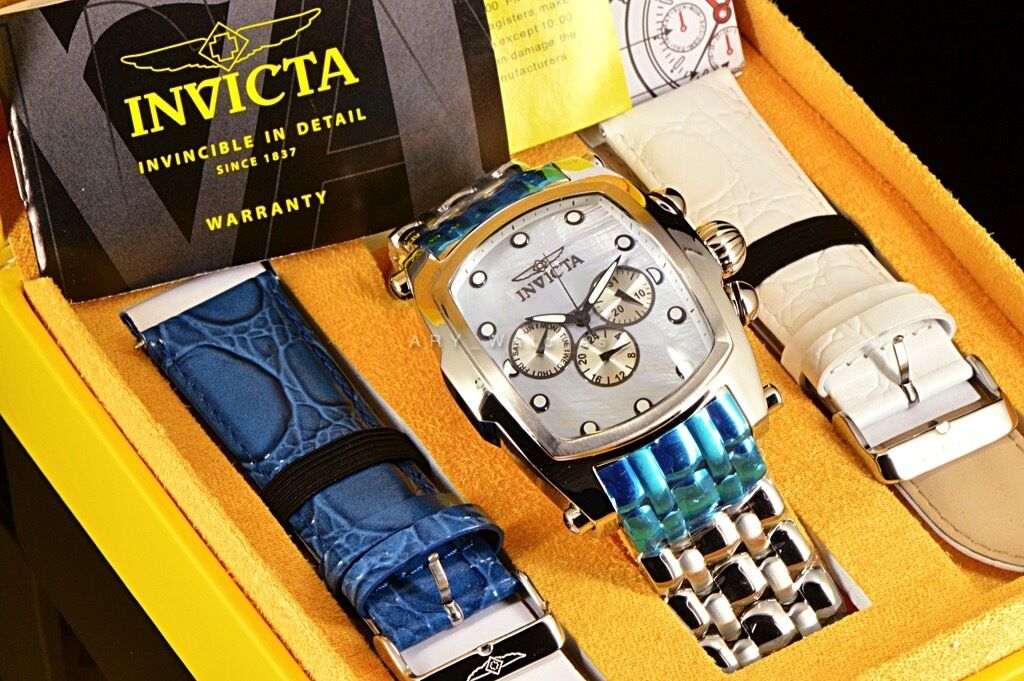 $89.49 - Invicta Lupah Mother Of Pearl Dial Swiss Movement Stainless Steel Bracelet Watch