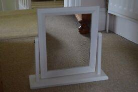 Small white mirror