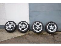 18'' GENUINE BMW 3 SERIES F30 F31 F32 400 STYLE 4 M SPORT E90 ALLOY WHEELS TYRES