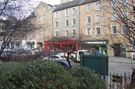 University/Pleasance. One bedroomed ground floor flat in garden setting