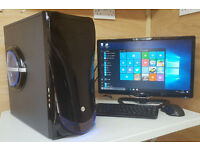Fast PC Computer Tower Intel Core 2 Quad 4GB RAM 500GB HDD HDMi Win 10 Tower Only