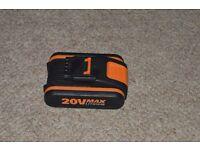 Worx 20v lithium 1.5amp tool battery