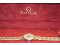 OMEGA GOLD WATCH ONLY £ 420