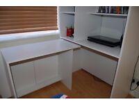 White Calgary hideaway desk