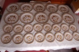 Mountain Wood 'Dried Flowers' Pattern in Stoneware 52 Piece Dinner Set, as New Unused