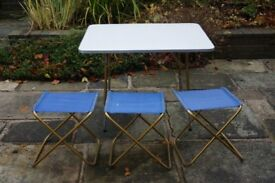 Lafuma Camping Table and Stools
