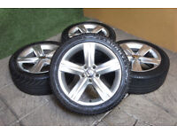 "Genuine VW Passat 17"" Fontana Alloy wheels & Tyres 5x112 Eos Golf MK5 MK6 Caddy Audi Alloys"