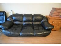 For Free - 3 seater lack leather sofa