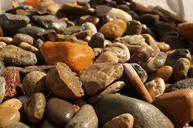 RockinNature 50-100mm Big Irish Beach Pebbles 20kg Bag - decorative garden stone