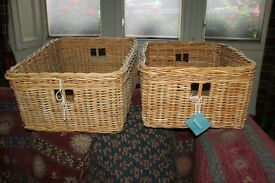 Habitat wicker baskets, 2 available excellent condition £12 each or .....