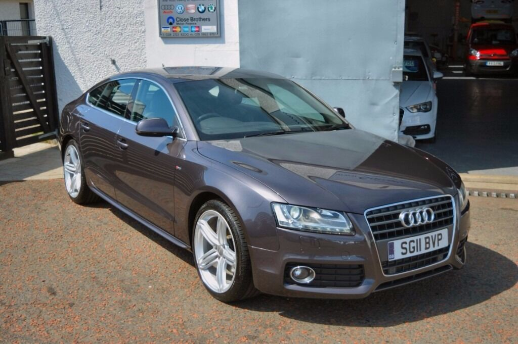 2011 audi a5 s line 170 tdi sportback aubergine grey fsh 2 keys not passat cc a4 a6 520d 530d. Black Bedroom Furniture Sets. Home Design Ideas