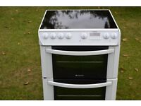 Hotpoint Electric Cooker - Double Oven - Ceramic Hob - 60'Wide
