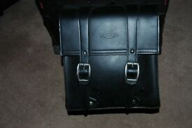 Leather passenger backrest bar bag for Triumph Thunderbird up to 2016