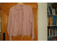 Seven pale pink buttoned blouse with long sleeves and detailed front size 14