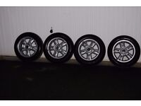 "4 x Mini Wheels with Tyres 15"" Immaculate Condition"