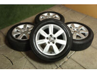 "Genuine VW Polo 15"" Riverside Alloy wheels 5x100 Fabia Ibiza Alloys 9N 6R Volkswagen"