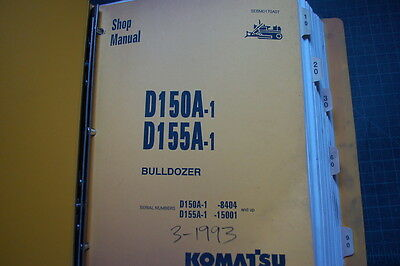 Komatsu D150 D155a-1 Dozer Crawler Service Repair Manual Book Tractor Shop 1993