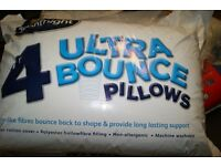 2 x Silentnight Ultrabounce Non-Allergenic Pillow With Hollowfibre Filling - 8 Pack