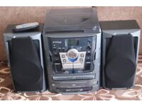 Neostar Compact Music Centre + Speakers - 2038873 - Blue Hf-638pe/bt CD Tape
