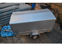 NEW 750kg box trailer, tipper, universal HEAVY DUTY with cover