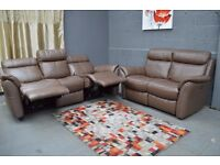 EX DISPLAY (F-VILLAGE) Relax Station Revive 3+2 Seater Leather Recliner Sofa