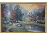 Thomas Kinkade - Lakeside Manor - Limited Edition Impression on Canvas