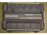 CAR AMPLIFIER KENWOOD 600 WATT 2 CHANEL AMP CROSSOVER CAN RUN DOOR SPEAKERS AND SUBWOOFER SUB