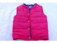 Girls Mamas and Papas body warmer / gilter 4-5 years