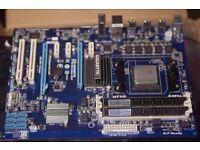 Gigabyte Motherboard, AMD 8350 CPU, 16 GB memory, Arctic Pro 7 Freezer cooler
