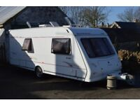 2005 Elddis Elusion SE 540 4 Berth Caravan, complete with Awning and many extras.