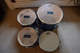Drum kit: Session Pro, in blue with full set of carry bags