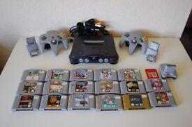Nintendo 64 Bundle - Console, Mario, Zelda, Pokemon - Can Split