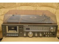 Vintage Binatone record player, cassette player and radio 'Music Machine'.