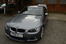 BMW 320i Convertible M Sport 2009 Grey, Red Leather Seats, Manual, Petrol, 78000