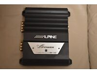 CAR AMPLIFIER ALPINE MRP - T220 STEREO 2CH AMP CAN RUN DOOR SPEAKERS OR SUBWOOFER IN BRIDGED MODE