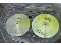 Zildjian scimitar hihats (medium) used no cracks. good upgrade from basic hihats