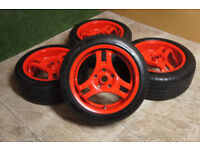 "Genuine ADVAN SA3R 16"" Alloy wheels 5x114.3 Staggered JDM Alloys MR2 Mx5 S2000 EP3 DC5 Fto S14"
