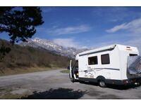 Coachbuilt Motorhome, Sleeps 4, Seatbelts for 4, Security locks, Cycle Rack, Towbar, TV Aerial etc.