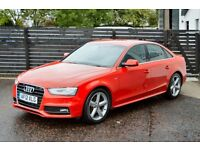 2012 AUDI A4 S LINE 177 FACELIFT £30 TAX FASH 1 OWNER FREE WARRANTY LOW RATE FINANCE NOT 320D PASSAT