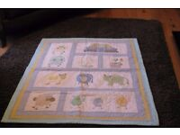 Little used Patchwork Cot Quilt for Boy or Girl