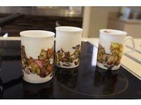 Mugs fine bone china x3