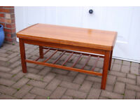 Teak Coffee Table - 36 inches by 18 inches - Excellent Condition