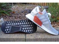 Adidas NMD_R2 Grey/White BRAND NEW MENS TRAINERS - UK 9