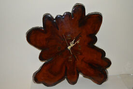 Cypress Tree Wall Clock (Highly polished)
