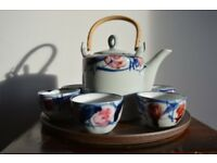Chinese Tea Set with Rose detail
