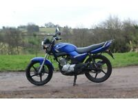 Yamaha YBR 125, 9 months MOT, 15,300 miles, no problems, need to sell as buying van.