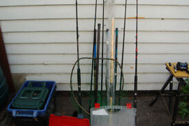 sea fishing rods ,reels and tackle